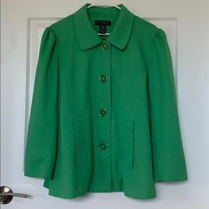 Dialogue Bright Green Swing Jacket - M
